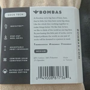 Bombas Accessories - Bombas No Shows socks - NWT - beige - Medium